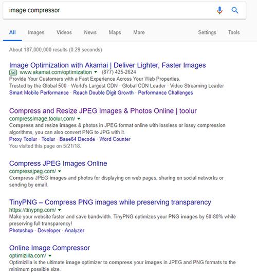 image-compressor-google-search-results