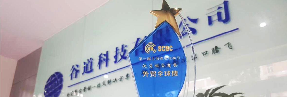 """全球搜荣获第一届上海跨境电商节""""优秀服务商奖"""""""